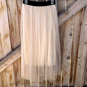 Dresses & Skirts - Skirt layered elastic waist size XS Womens